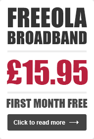 Freeola Broadband - £9.99 First Month Trial