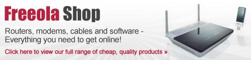 Cheap routers and software at the Freeola Shop!
