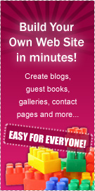 Build Your Own Web Site In Minutes!