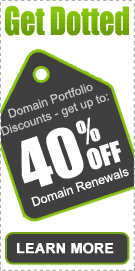 Get Dotted Domain Portfolio Discounts